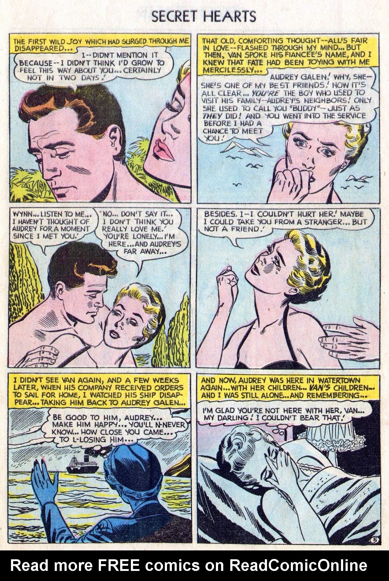Read online Secret Hearts comic -  Issue #28 - 7