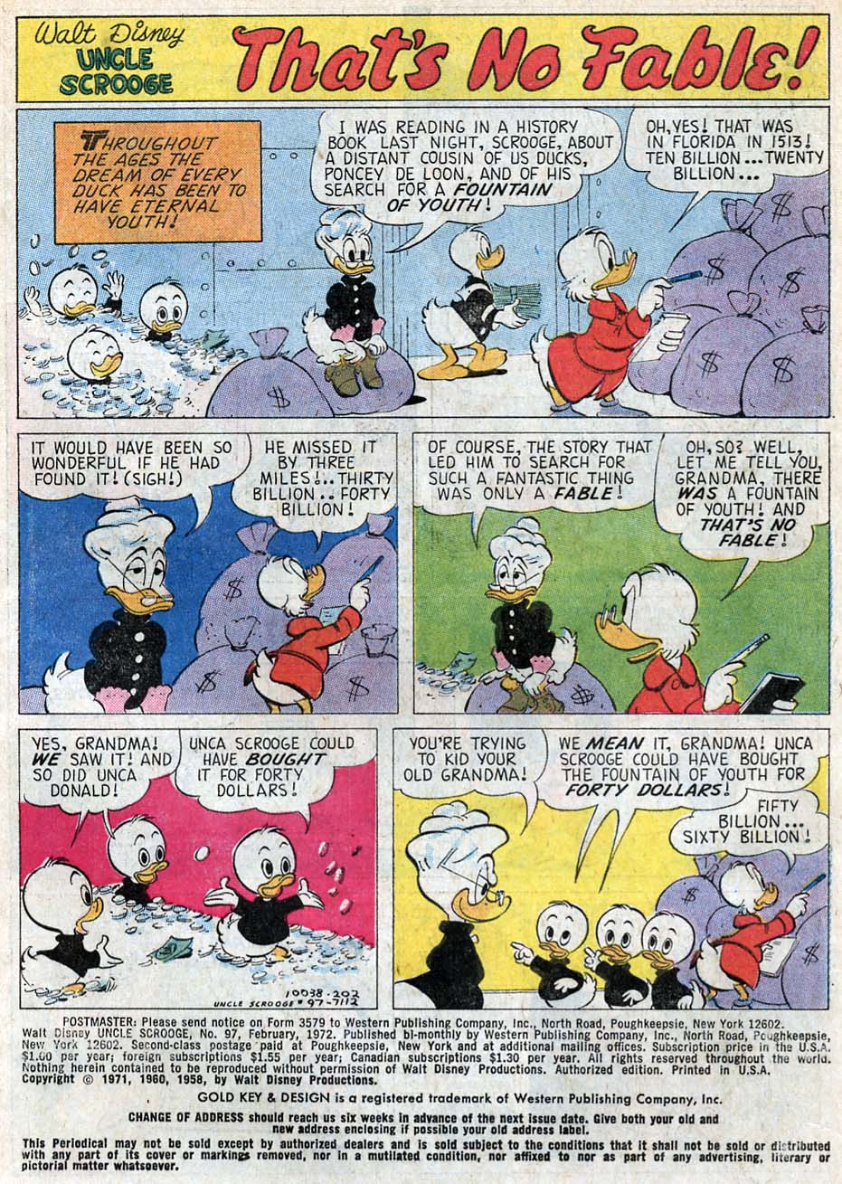 Uncle Scrooge (1953) Issue #97 #97 - English 3