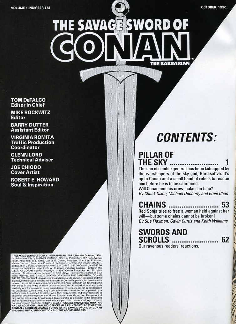 The Savage Sword Of Conan Issue #178 #179 - English 2