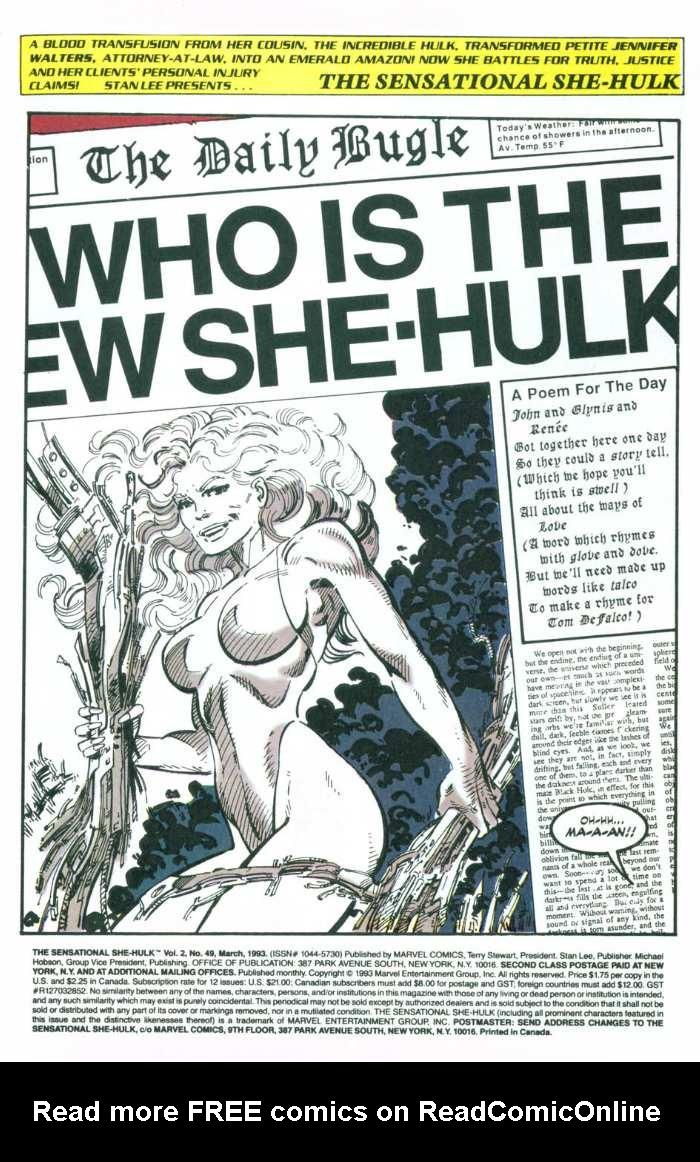 The Sensational She-Hulk Issue #49 #49 - English 3