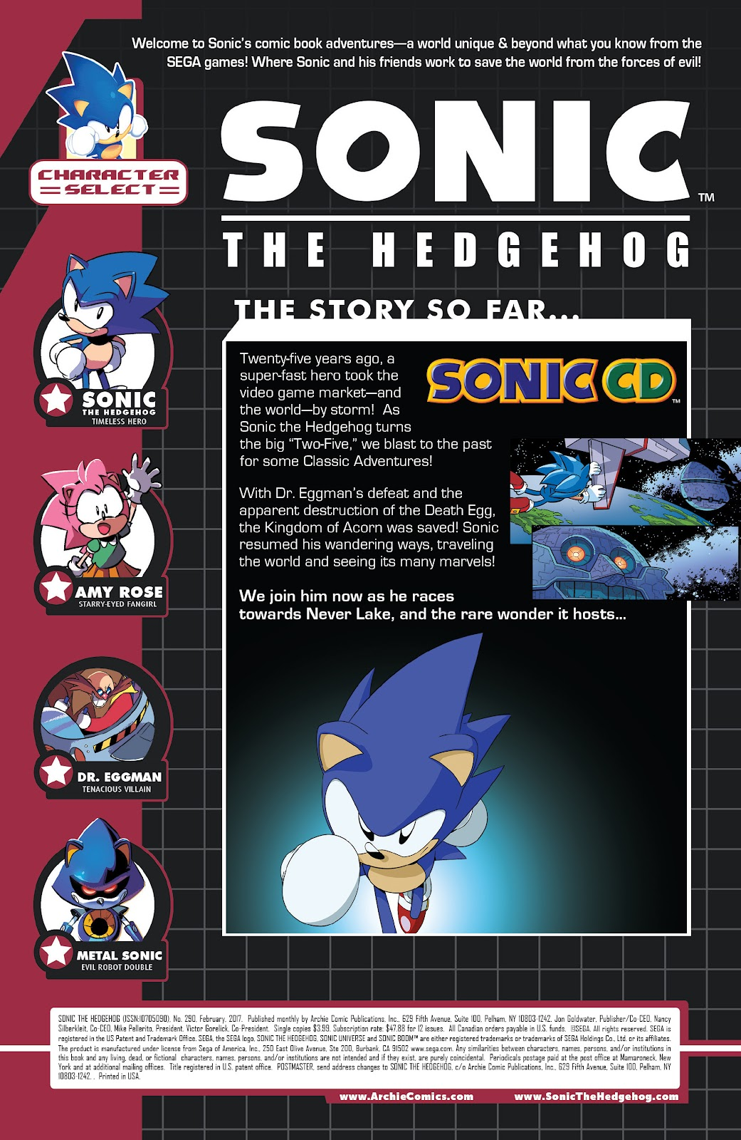 Sonic The Hedgehog (1993) Issue #290 #290 - English 2