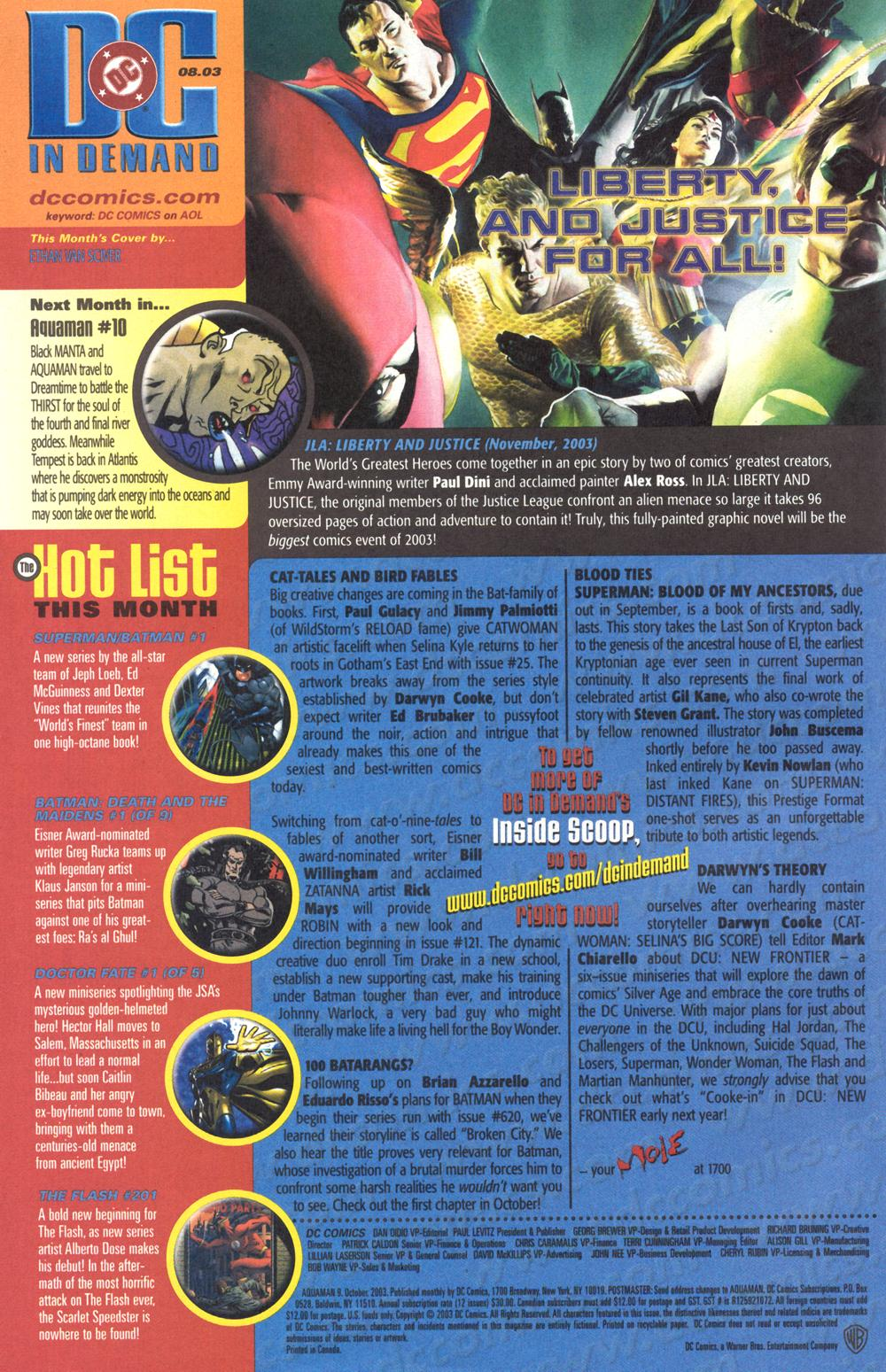 Aquaman (2003) Issue #9 #9 - English 25