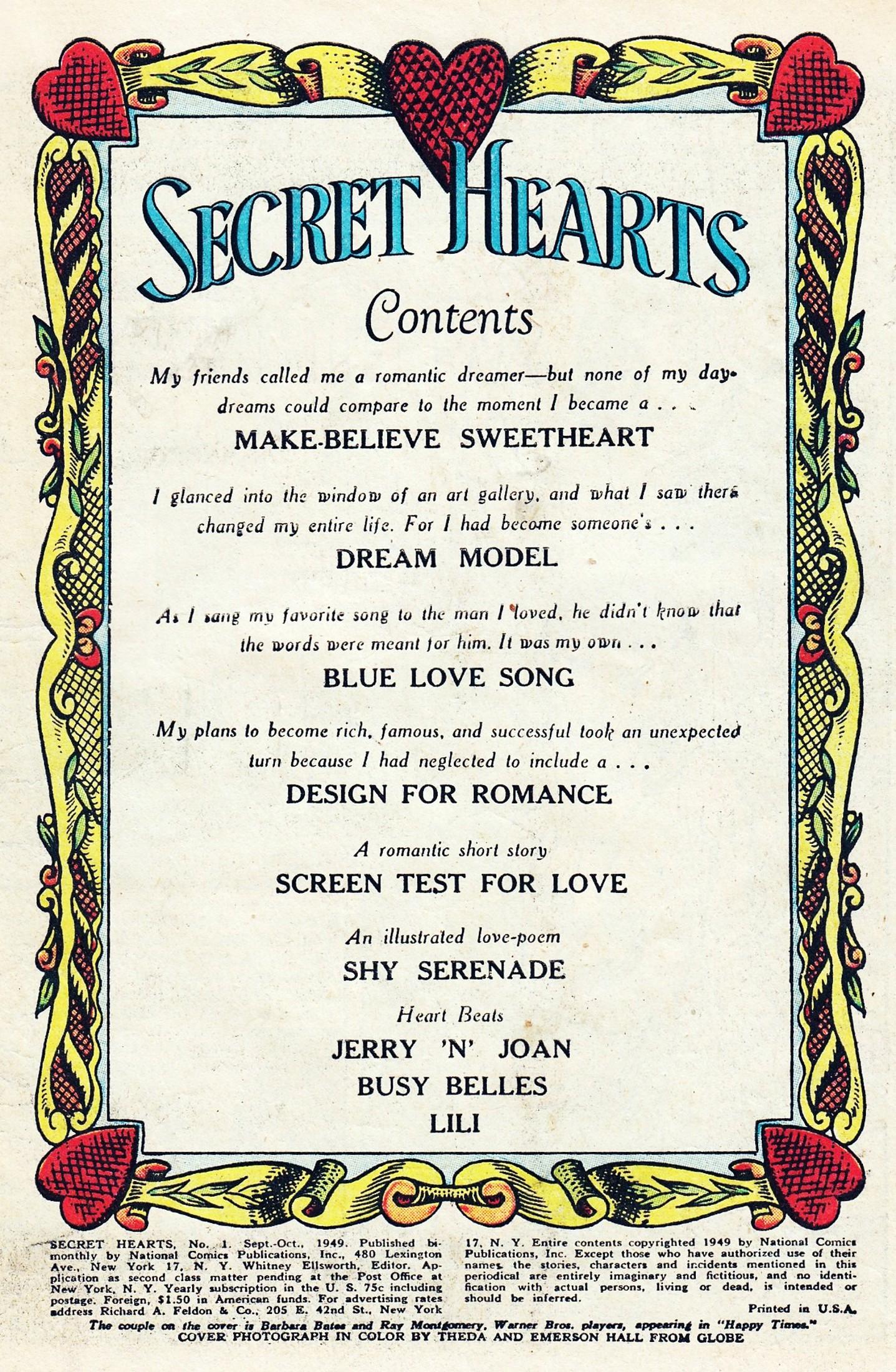Read online Secret Hearts comic -  Issue #1 - 3