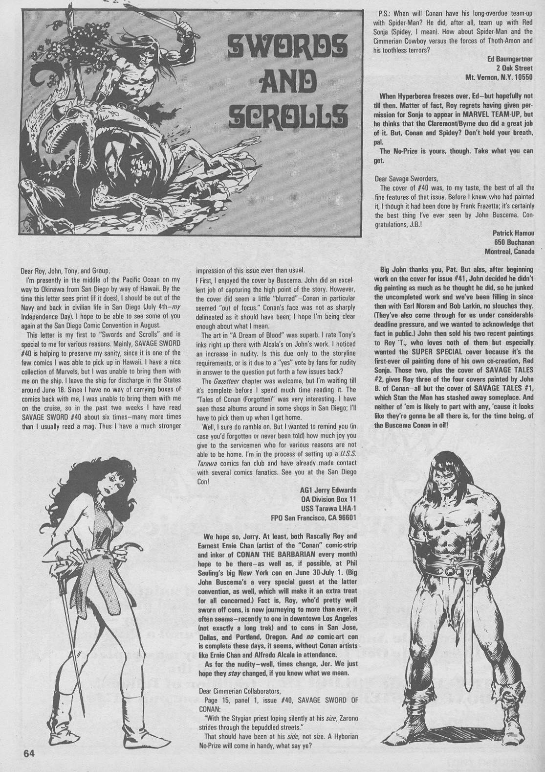 The Savage Sword Of Conan Issue #44 #45 - English 64