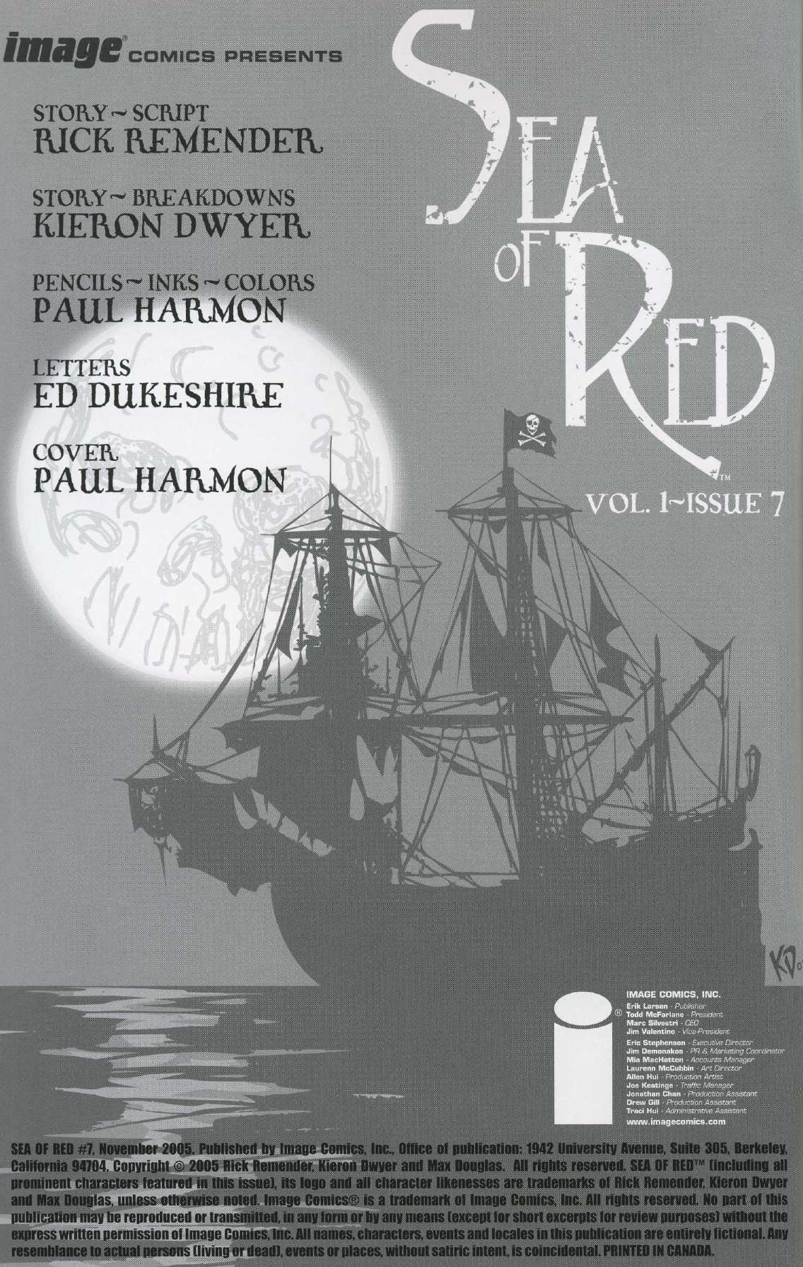 Read online Sea of Red comic -  Issue #7 - 2