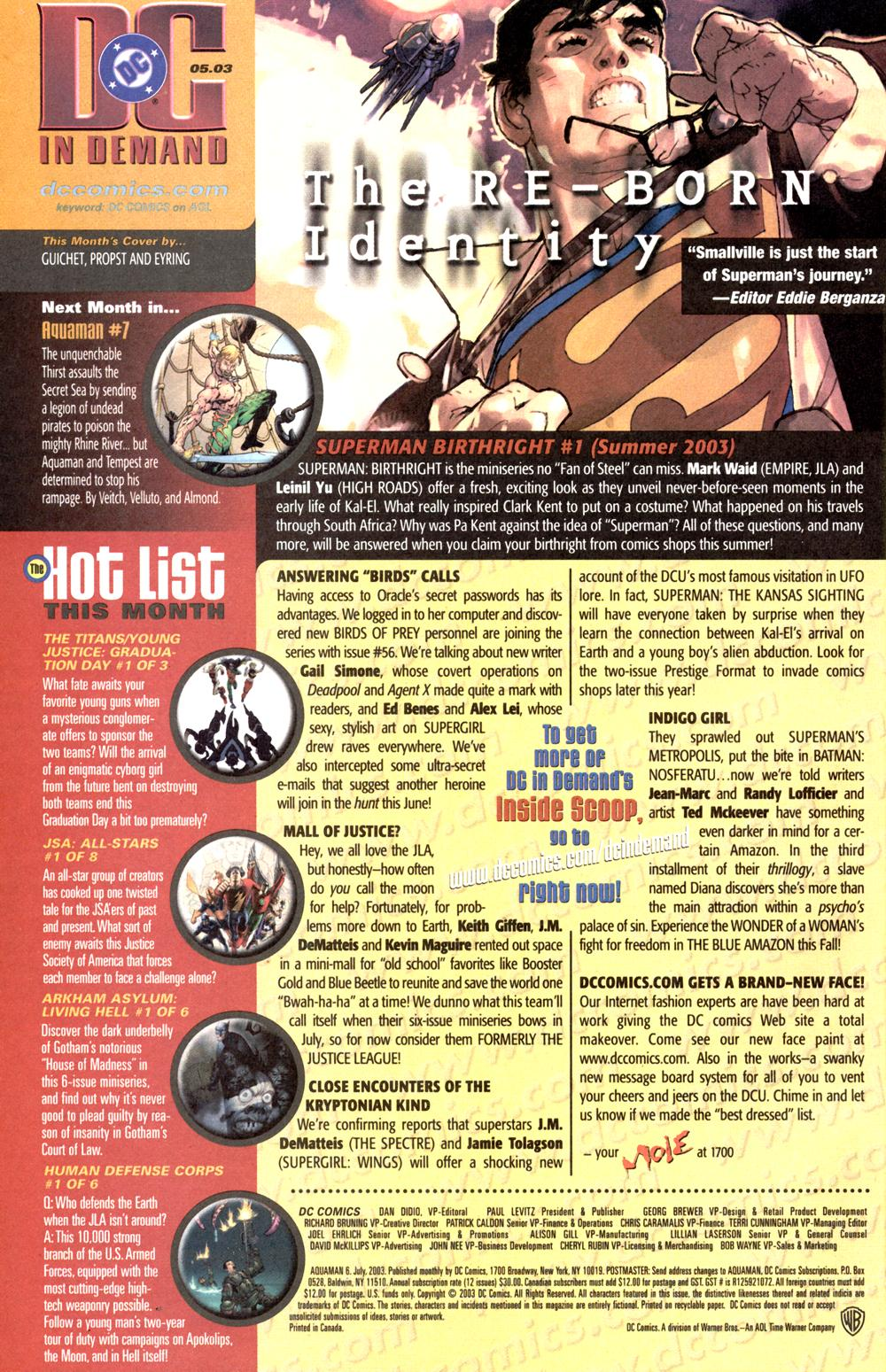 Aquaman (2003) Issue #6 #6 - English 26