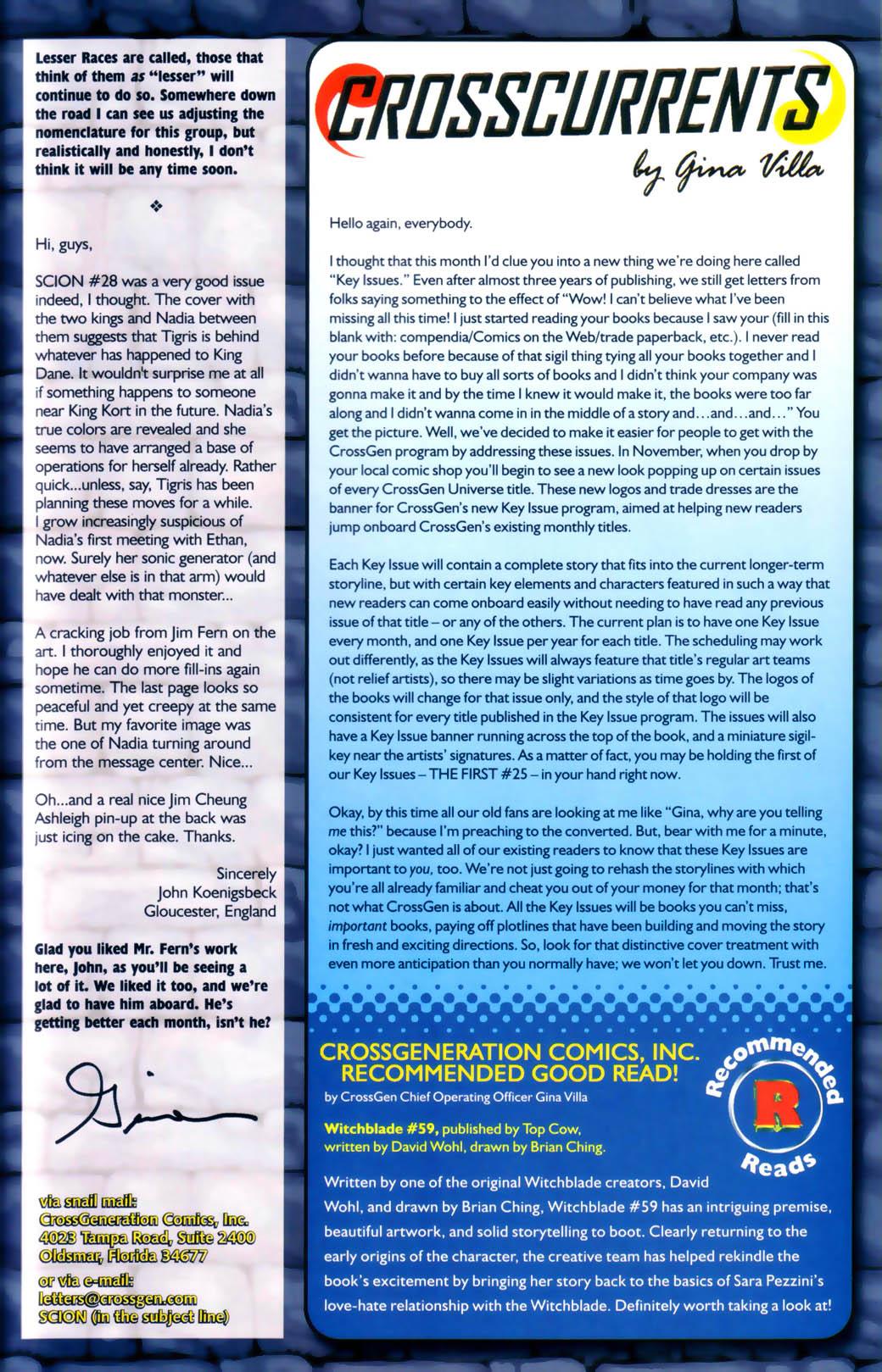 Read online Scion comic -  Issue #30 - 28