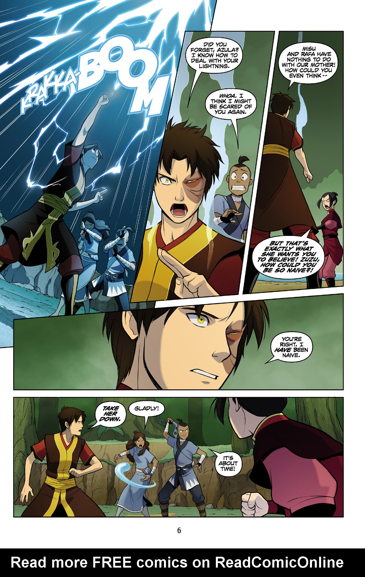 Read online Nickelodeon Avatar: The Last Airbender - The Search comic -  Issue # Part 3 - 7
