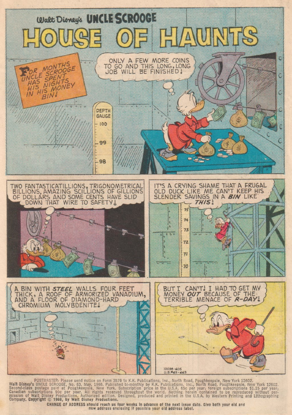Uncle Scrooge (1953) Issue #63 #63 - English 3