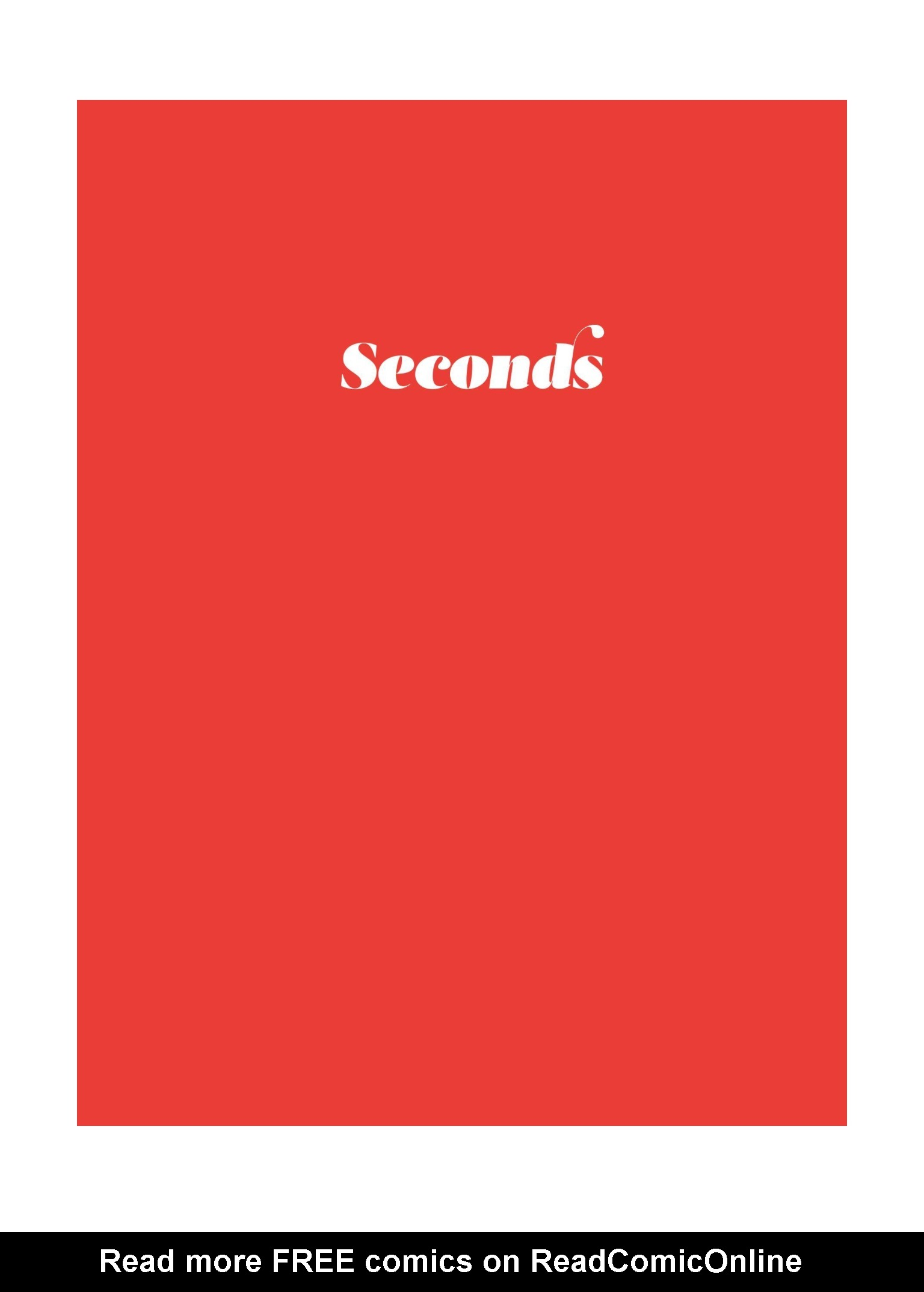 Read online Seconds comic -  Issue # Full - 3