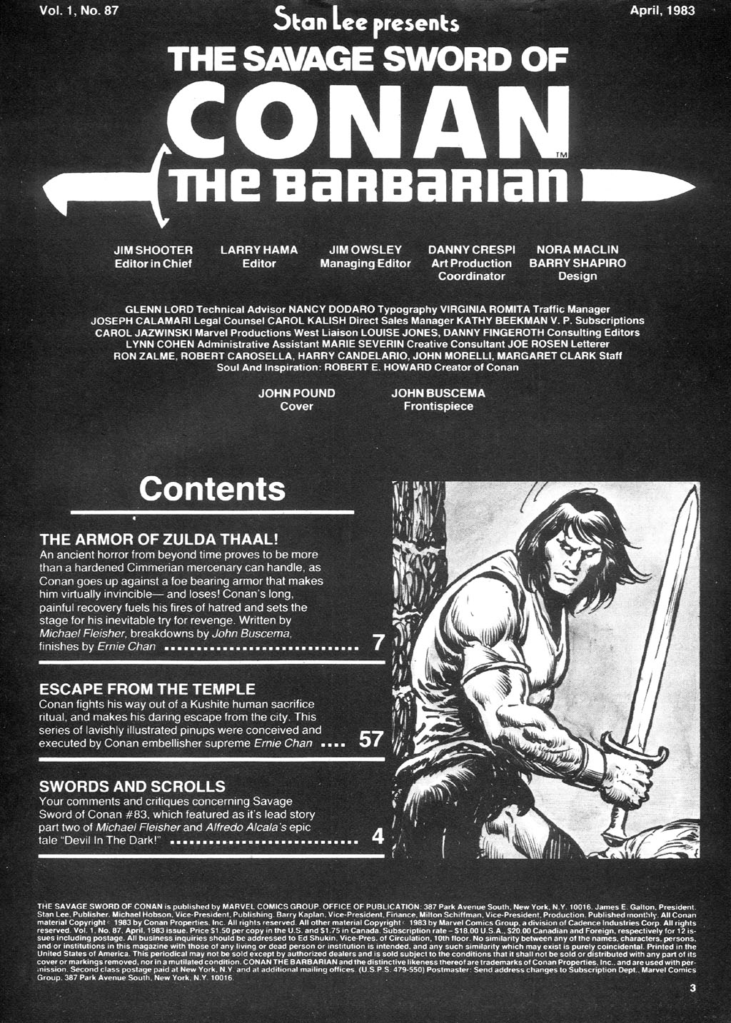 The Savage Sword Of Conan Issue #87 #88 - English 3