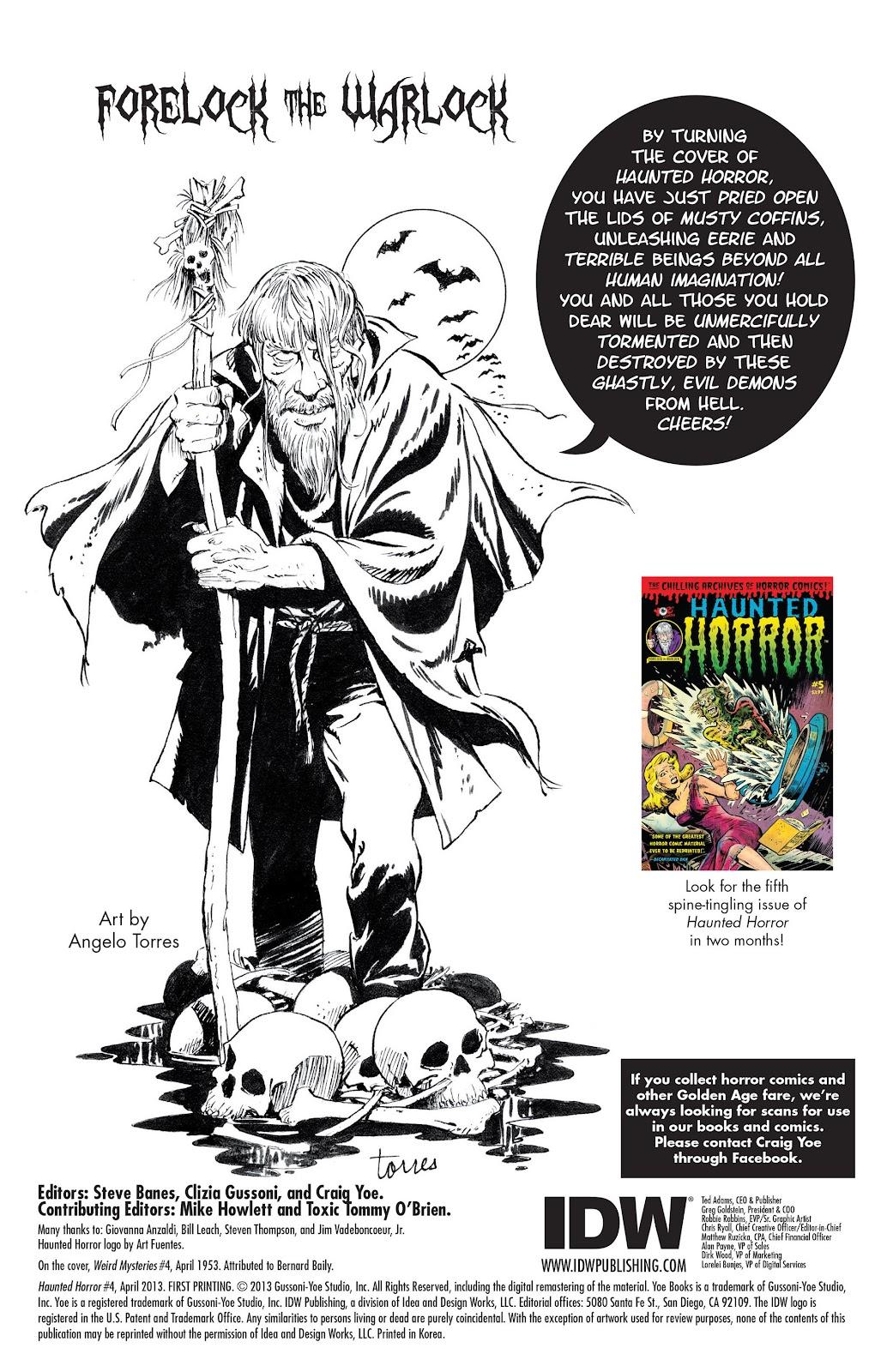 Haunted Horror Issue #4 #4 - English 2