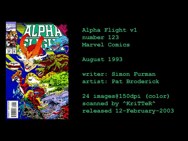 Alpha Flight (1983) 123 Page 1