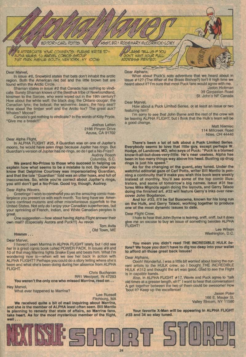 Alpha Flight (1983) 31 Page 24