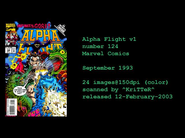 Alpha Flight (1983) 124 Page 1