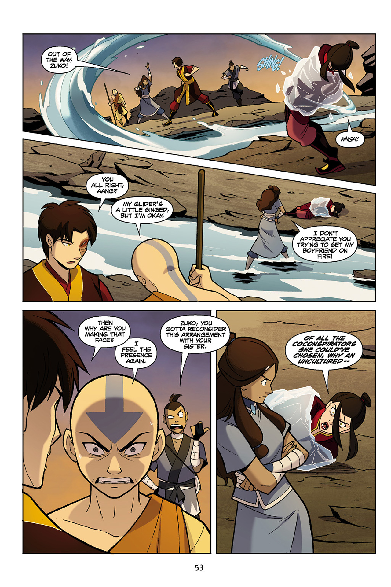 Read online Nickelodeon Avatar: The Last Airbender - The Search comic -  Issue # Part 1 - 54