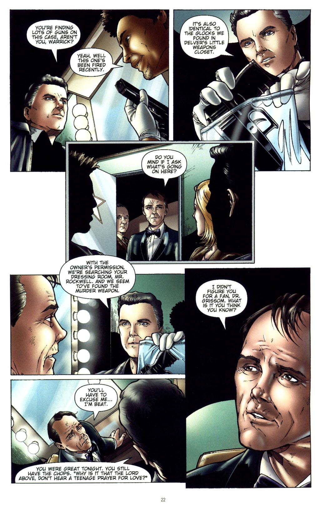 Read online CSI: Crime Scene Investigation: Bad Rap comic -  Issue #5 - 25