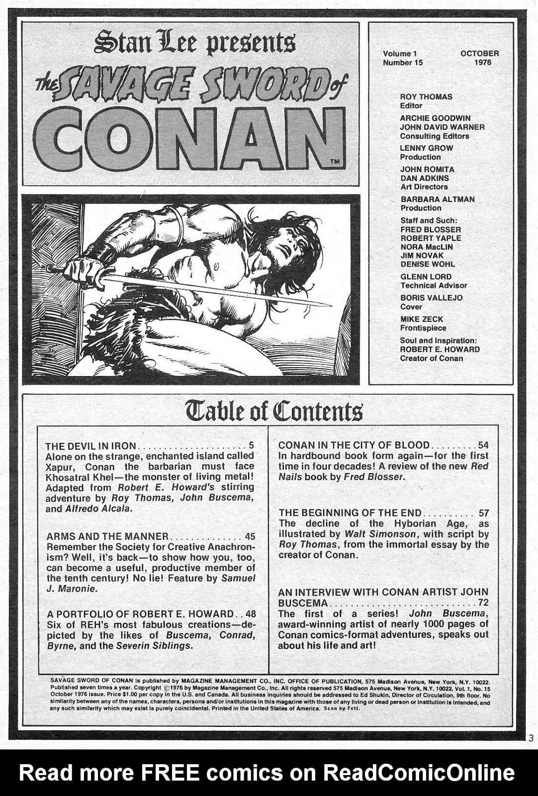 The Savage Sword Of Conan Issue #15 #16 - English 3