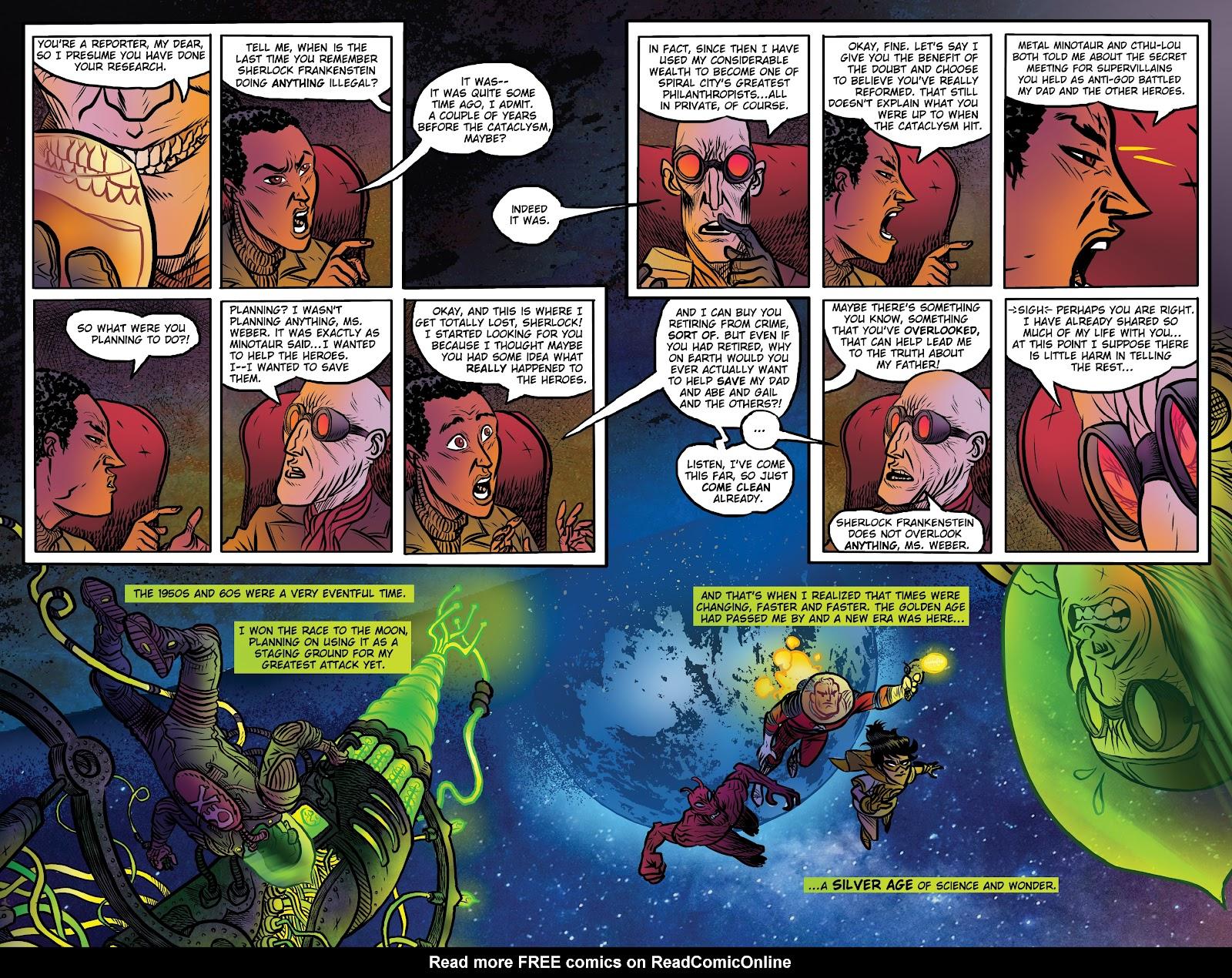 Read online Sherlock Frankenstein and the Legion of Evil comic -  Issue #4 - 10