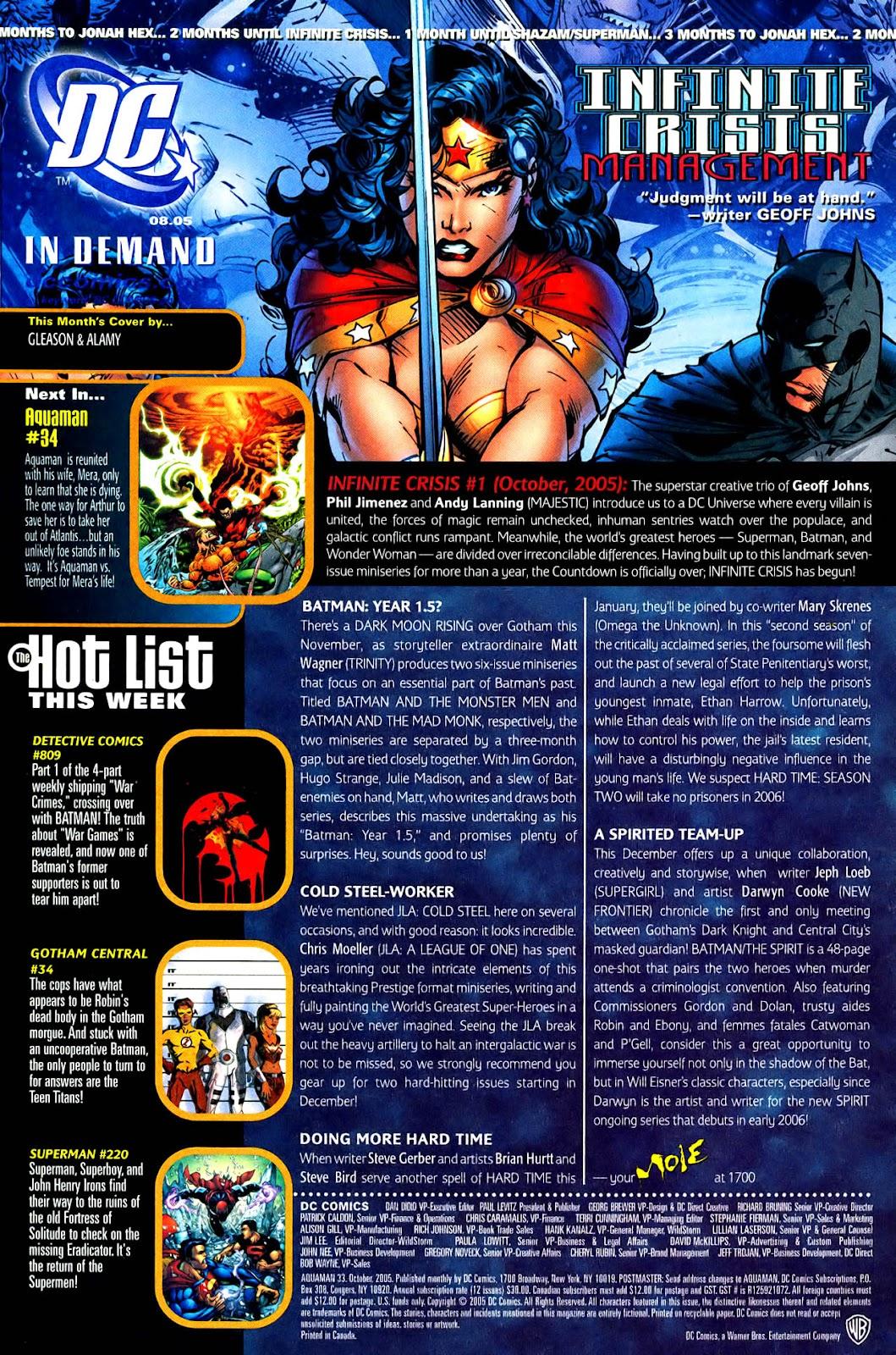 Aquaman (2003) Issue #33 #33 - English 24