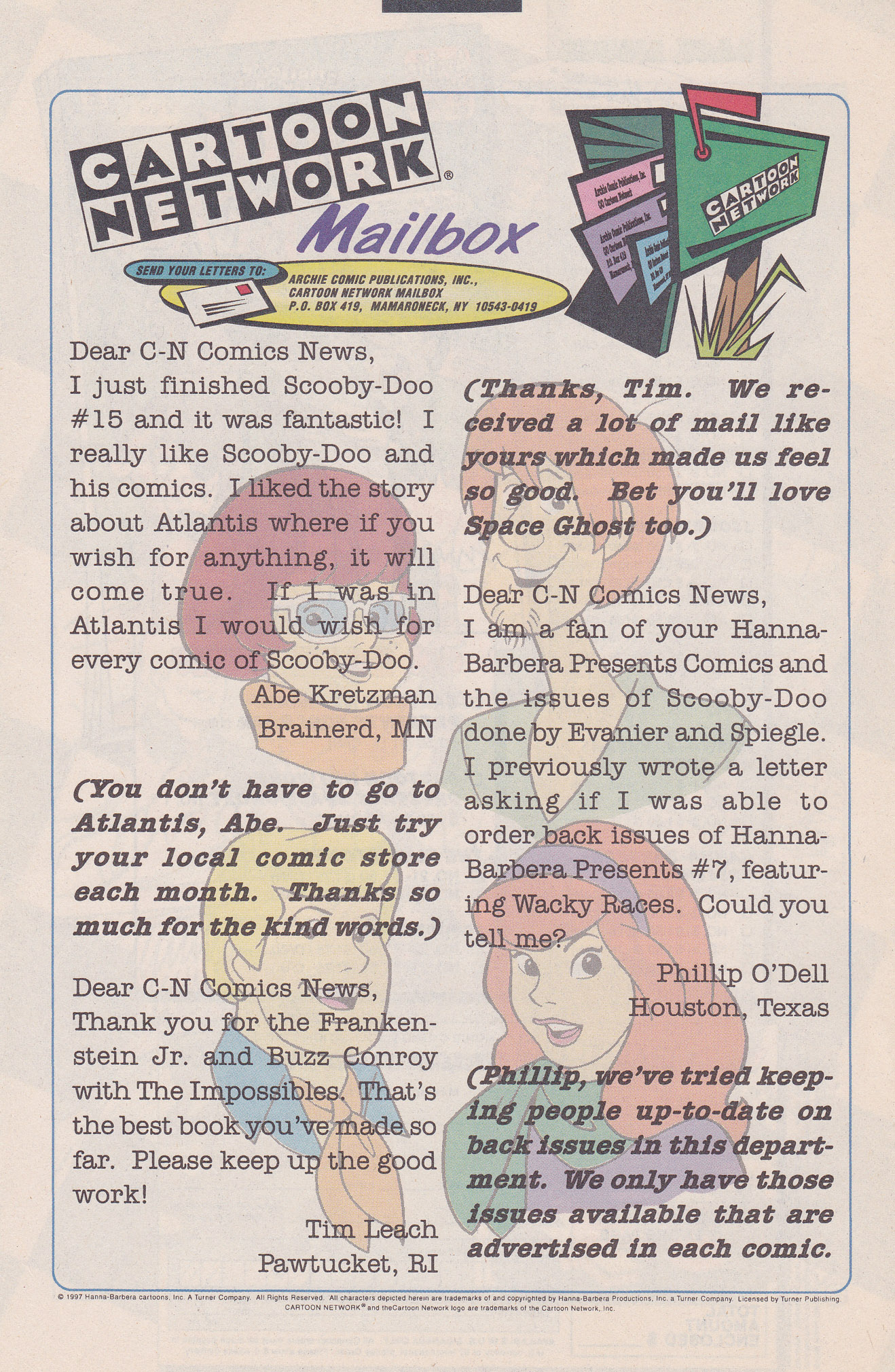 Read online Scooby-Doo (1995) comic -  Issue #20 - 22