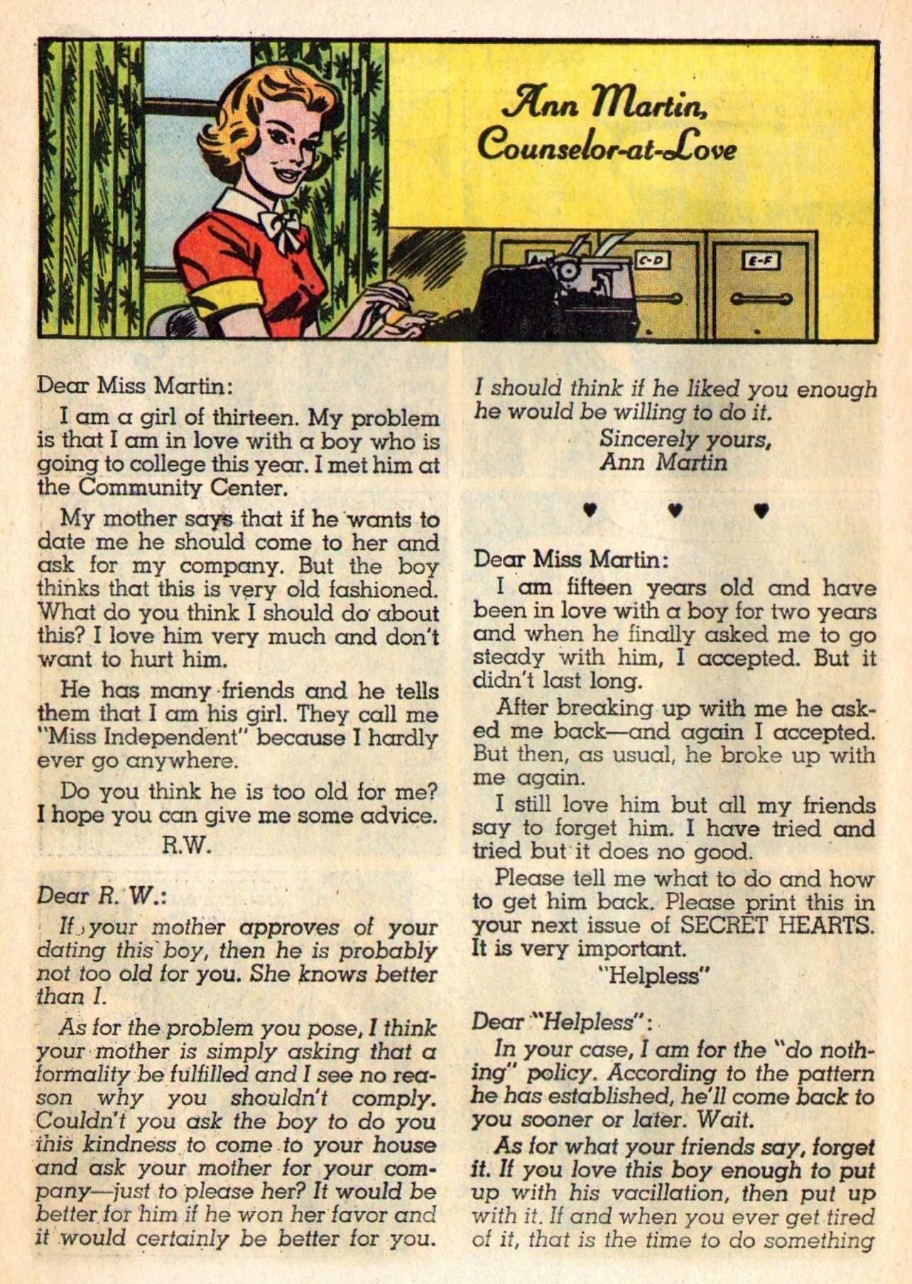 Read online Secret Hearts comic -  Issue #98 - 18
