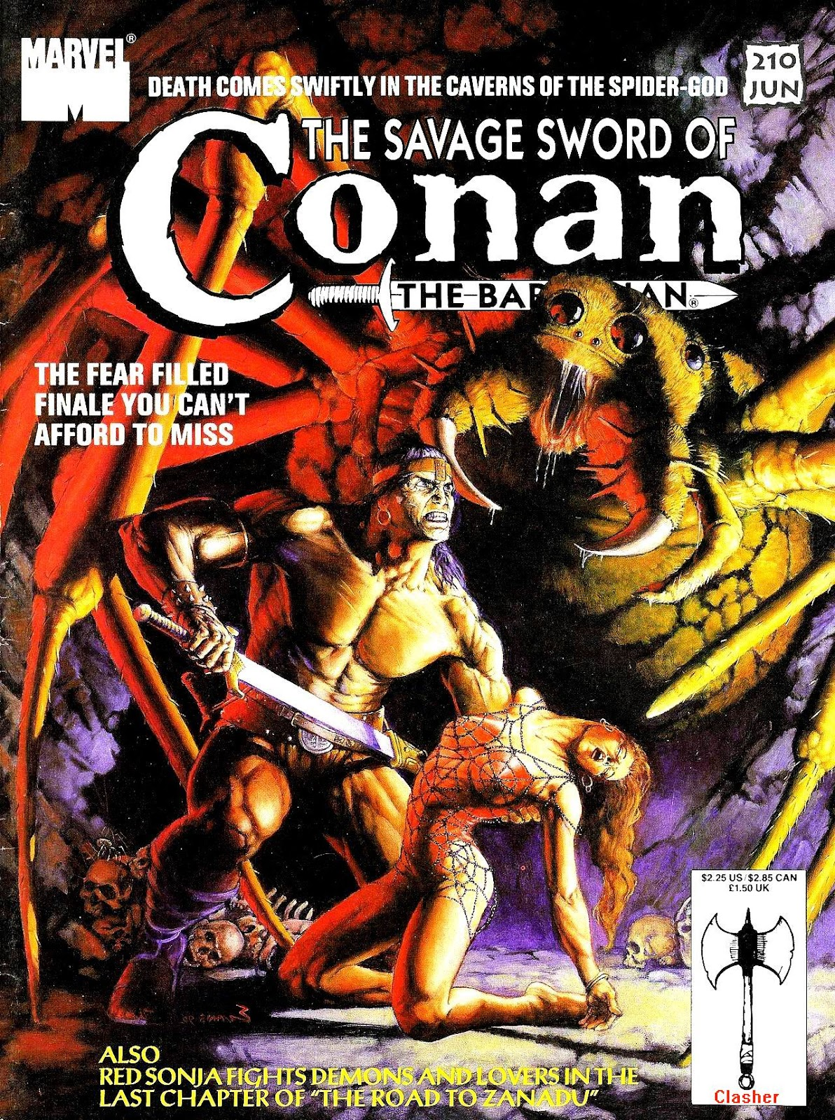 The Savage Sword Of Conan Issue #210 #211 - English 1
