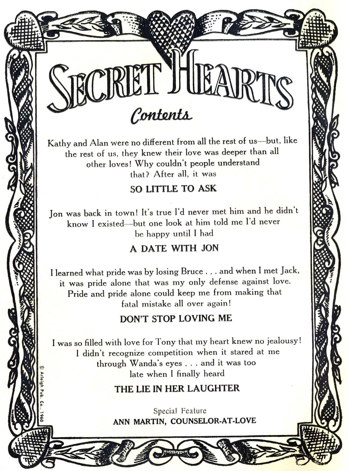 Read online Secret Hearts comic -  Issue #69 - 2