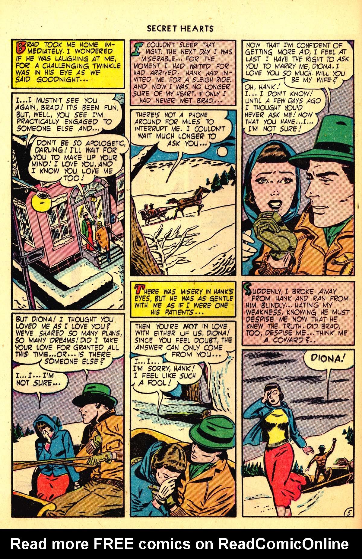 Read online Secret Hearts comic -  Issue #6 - 34