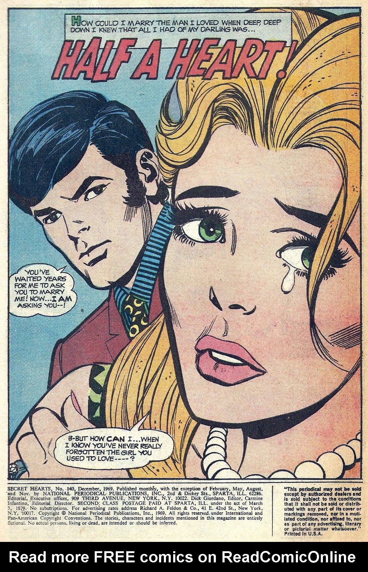 Read online Secret Hearts comic -  Issue #140 - 3