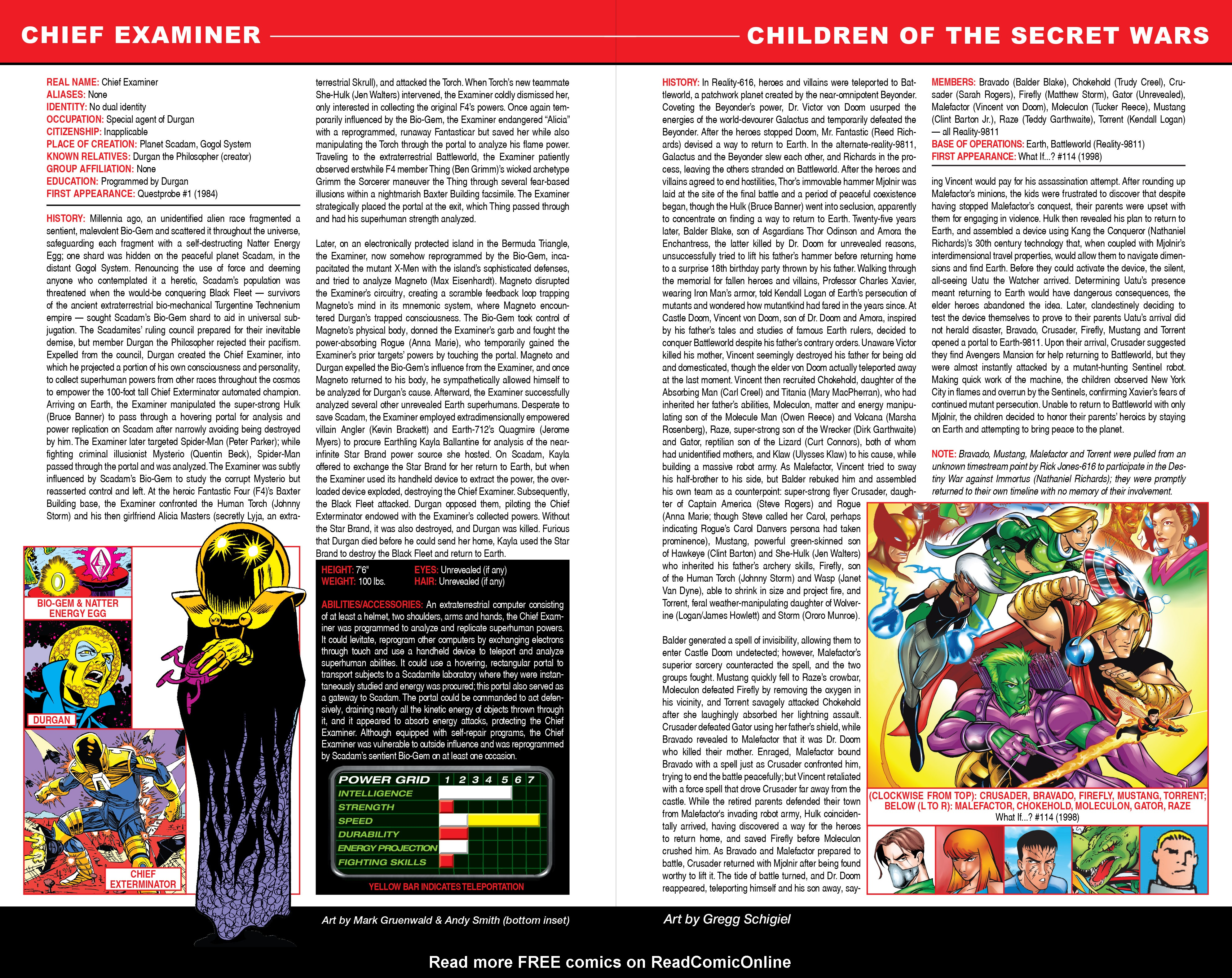 Read online Secret Wars: Official Guide to the Marvel Multiverse comic -  Issue # Full - 6