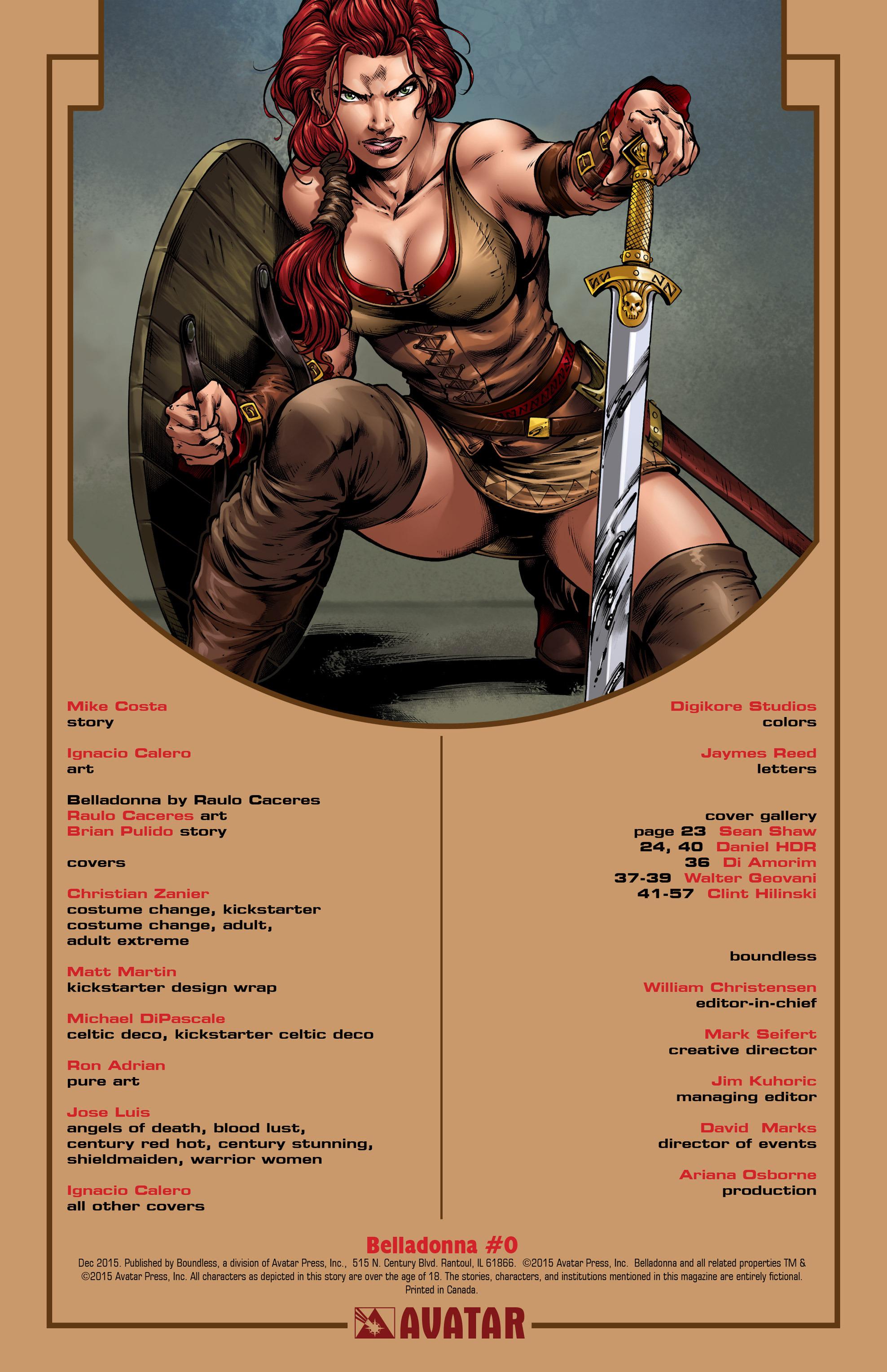 Read online Belladonna comic -  Issue #0 - 2