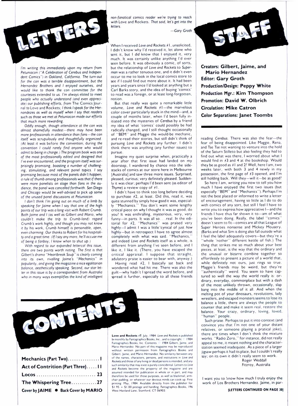 Love and Rockets (1982) Issue #7 #6 - English 2