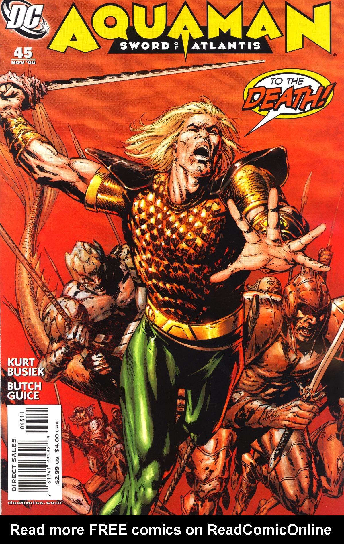Aquaman: Sword of Atlantis 45 Page 1