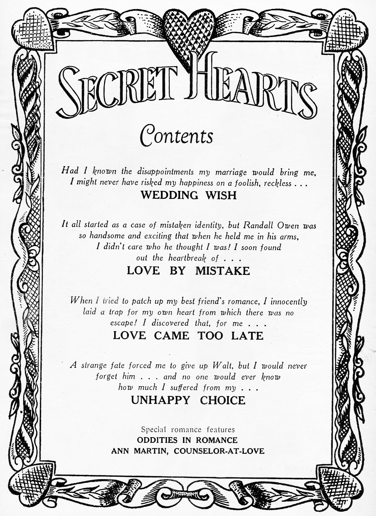Read online Secret Hearts comic -  Issue #16 - 2