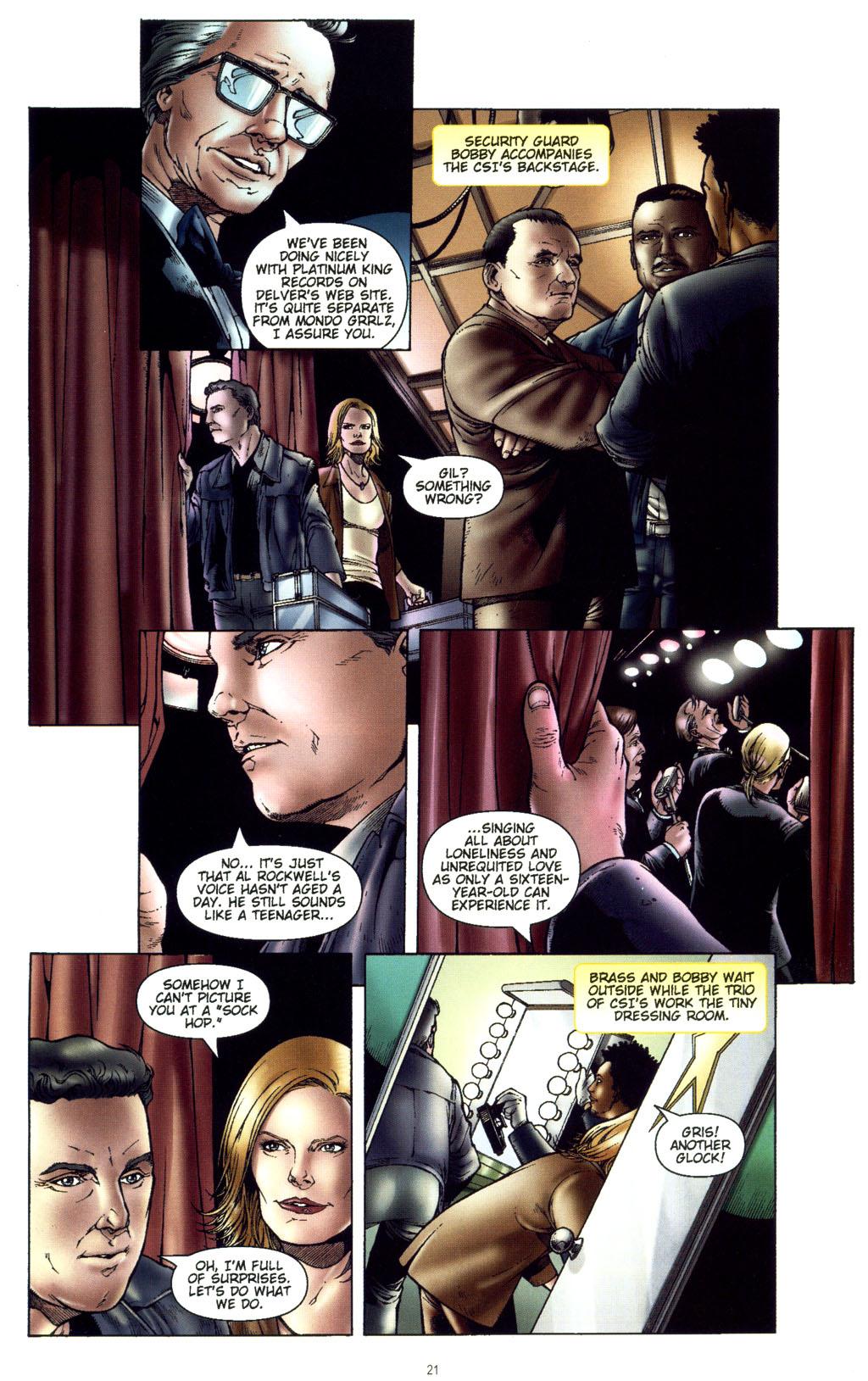 Read online CSI: Crime Scene Investigation: Bad Rap comic -  Issue #5 - 24