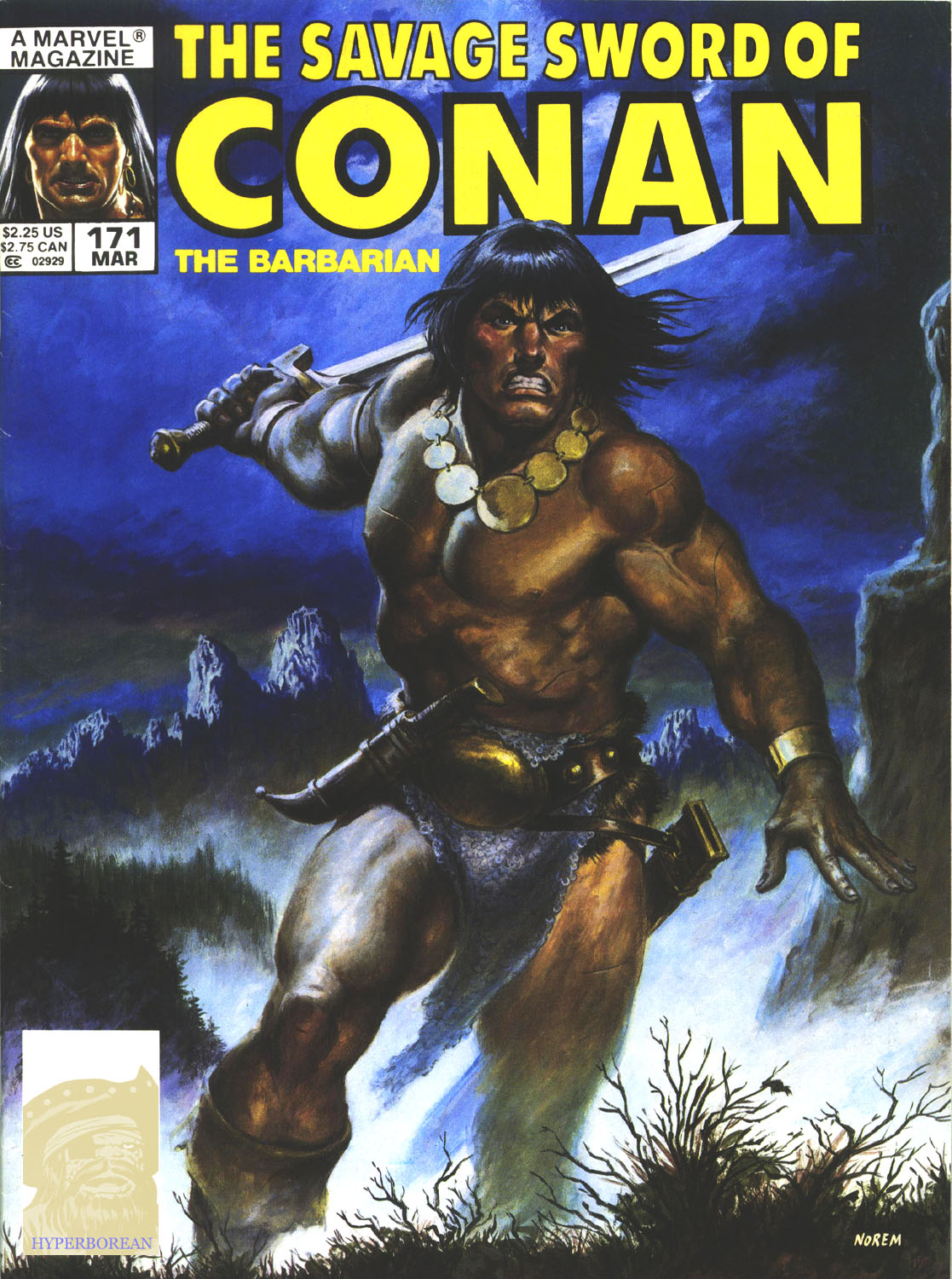 The Savage Sword Of Conan Issue #171 #172 - English 1