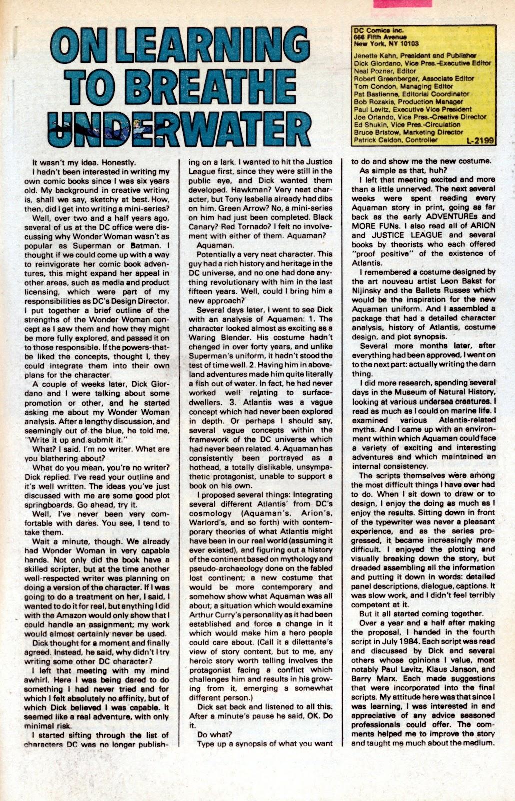 Aquaman (1986) Issue #2 #2 - English 33