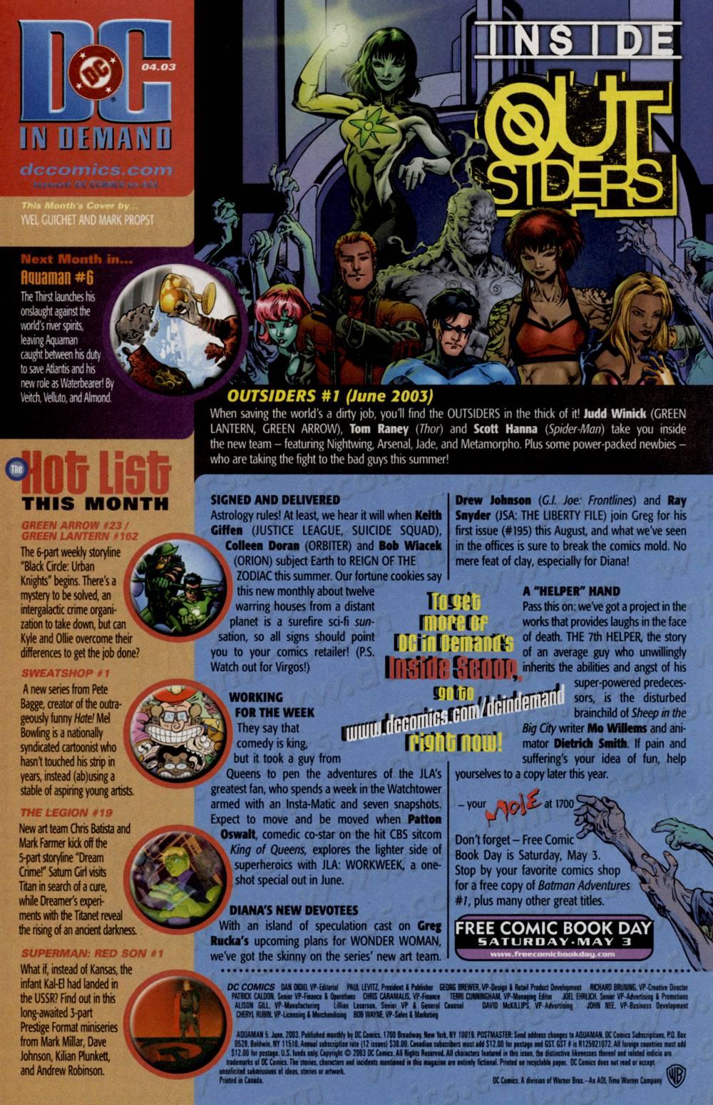 Aquaman (2003) Issue #5 #5 - English 25