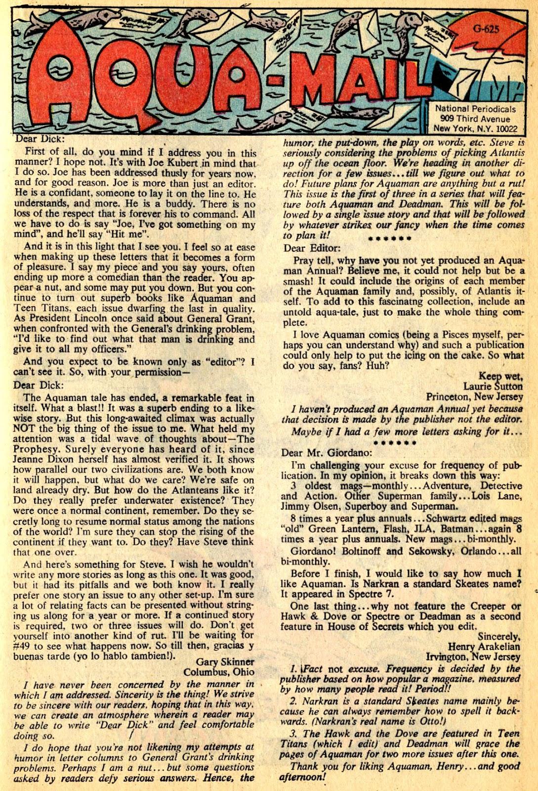 Aquaman (1962) Issue #50 #50 - English 21