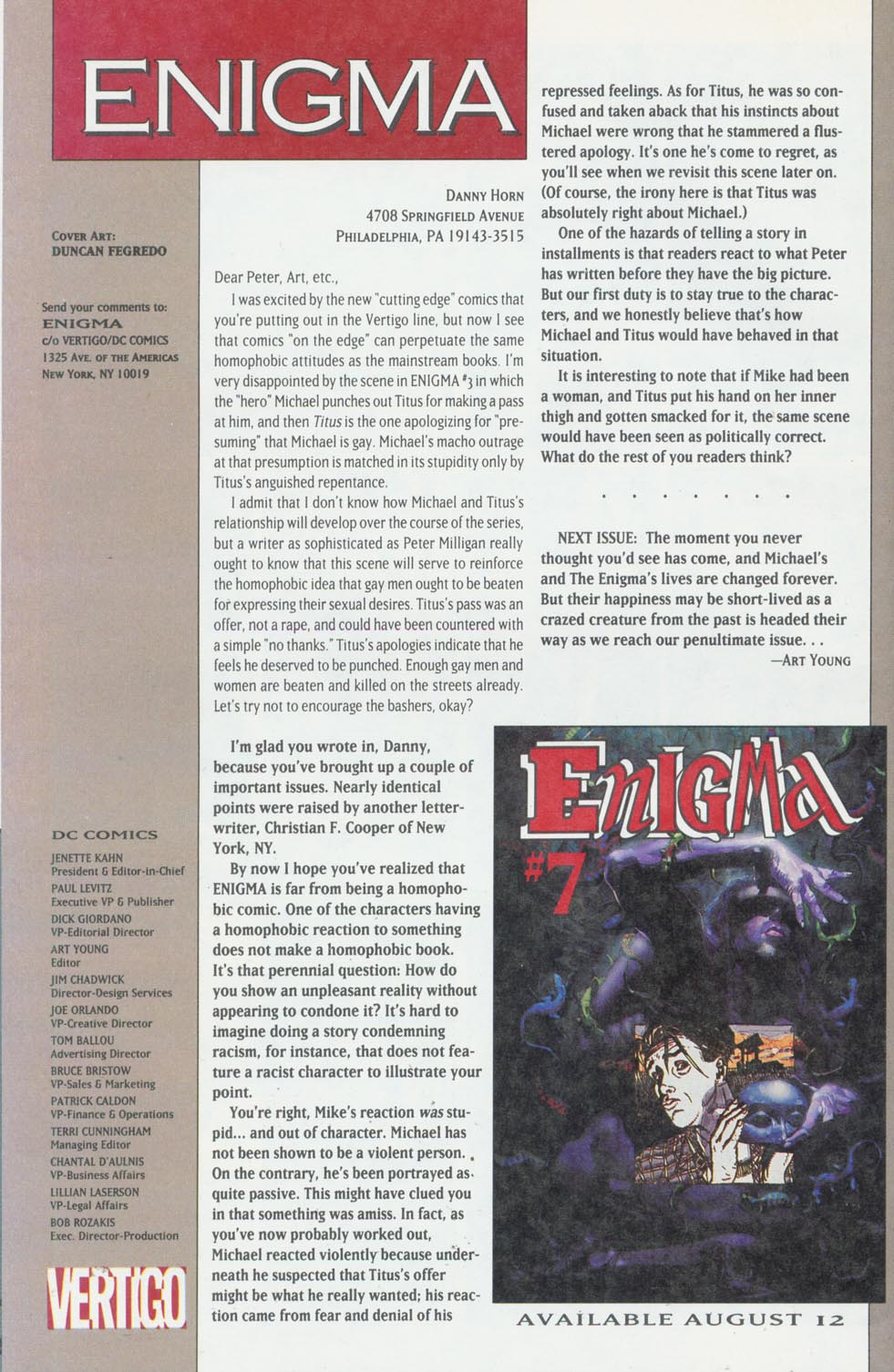 Read online Enigma comic -  Issue #6 - 27