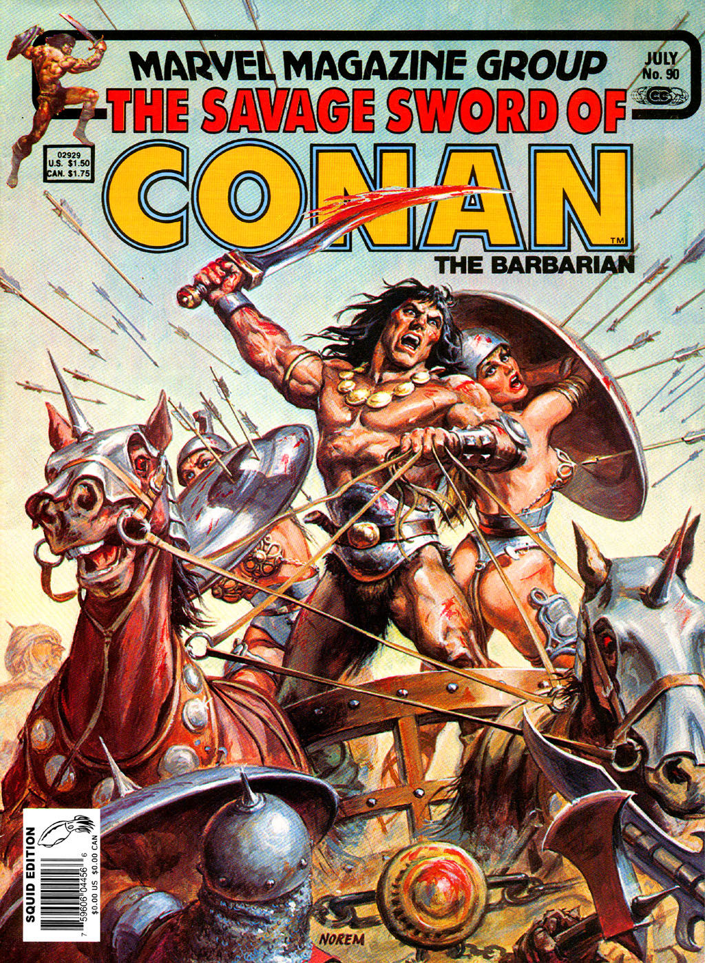 The Savage Sword Of Conan Issue #90 #91 - English 1