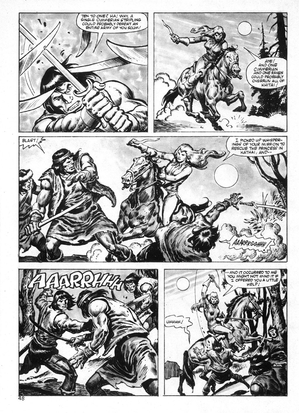 The Savage Sword Of Conan Issue #95 #96 - English 48