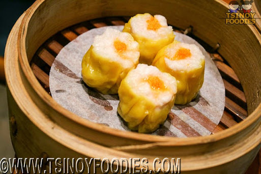 steamed crab roe and shrimp shaomai
