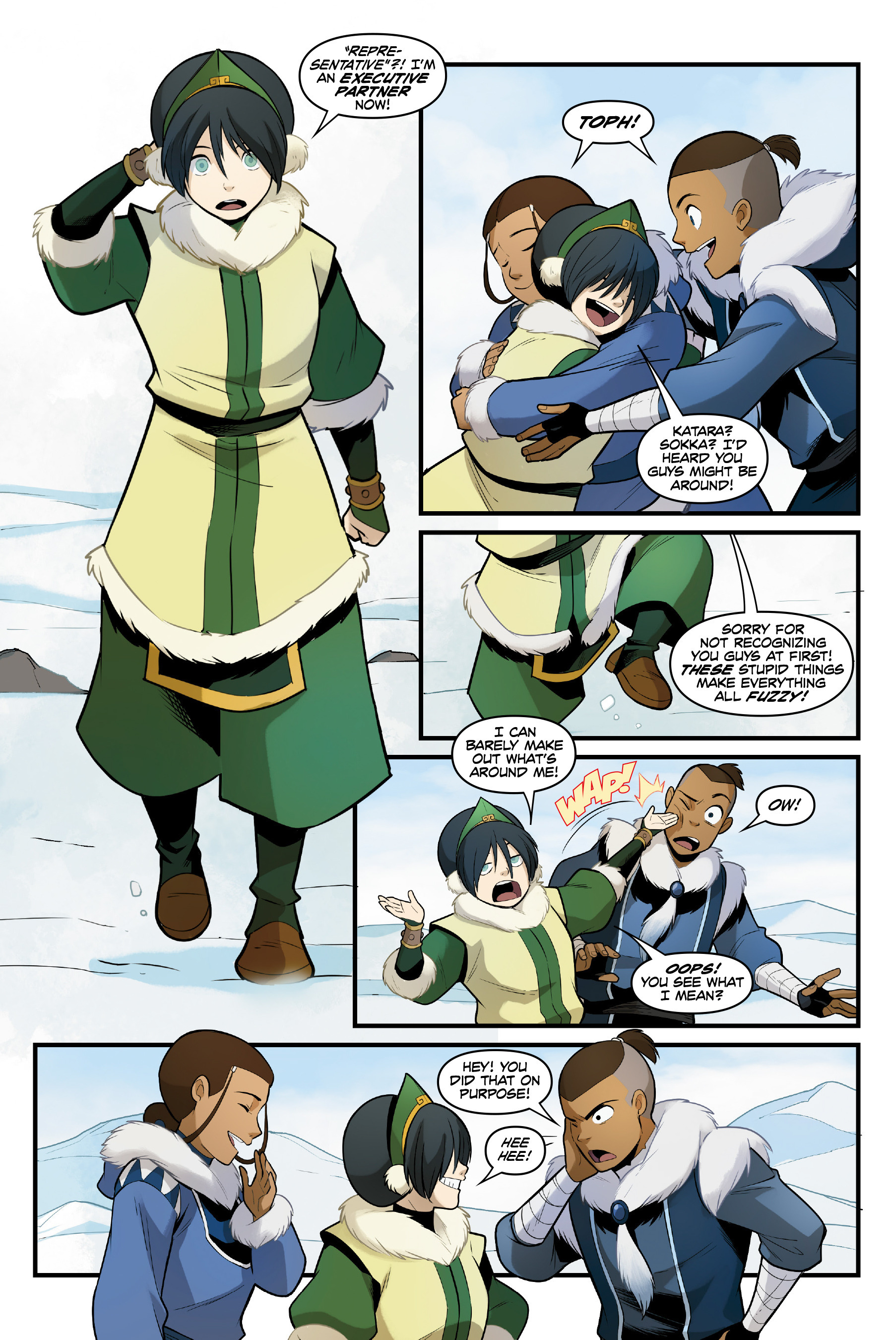 avatar the last airbender comic online north and south
