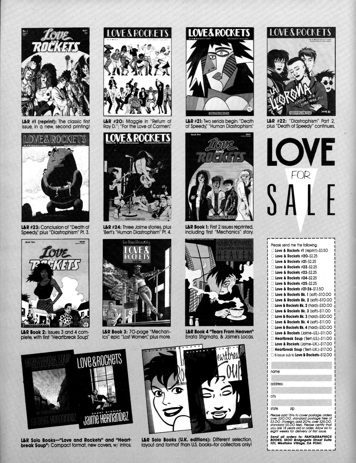 Love and Rockets (1982) Issue #25 #24 - English 2