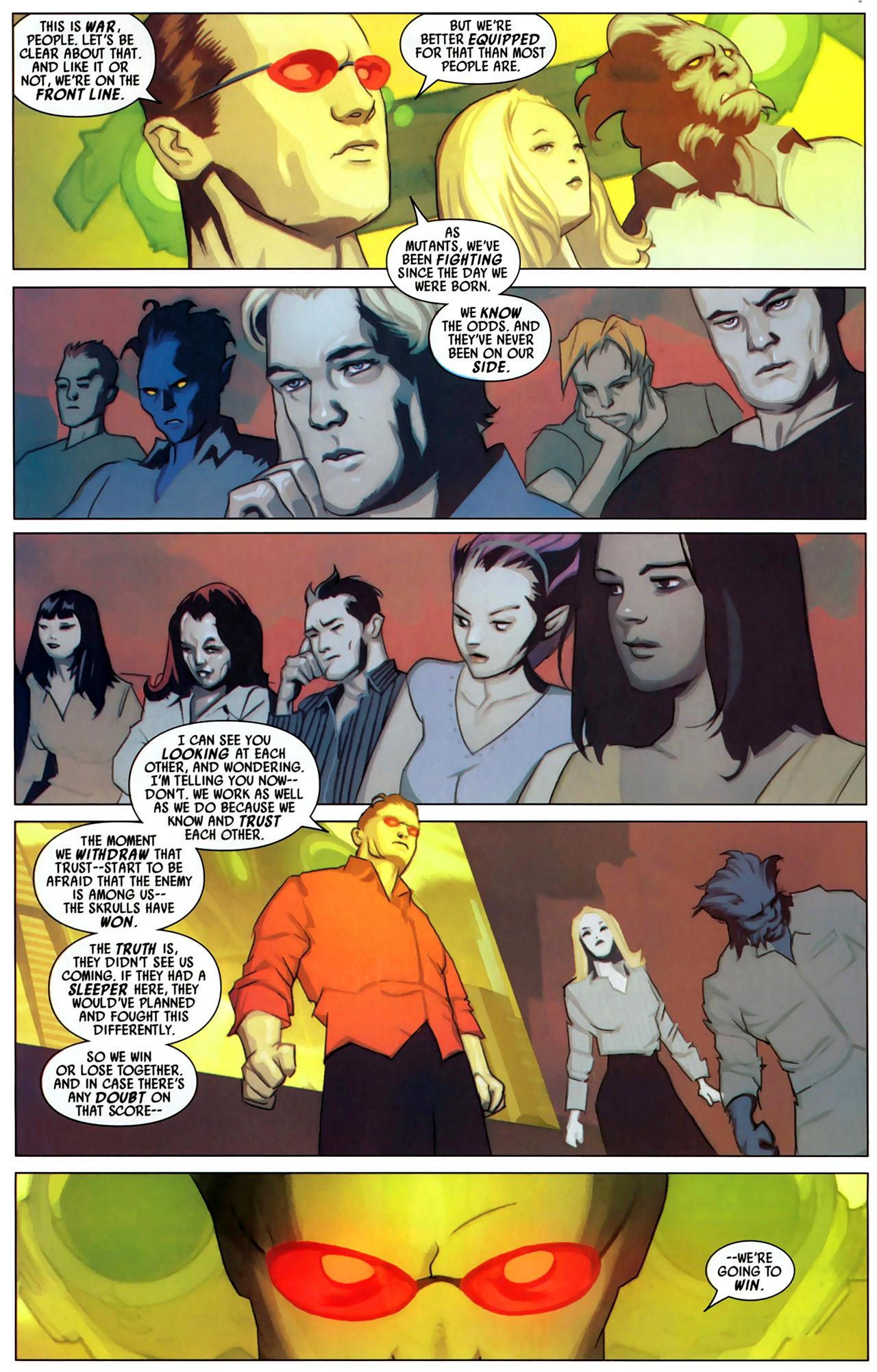 Read online Secret Invasion: X-Men comic -  Issue #2 - 8