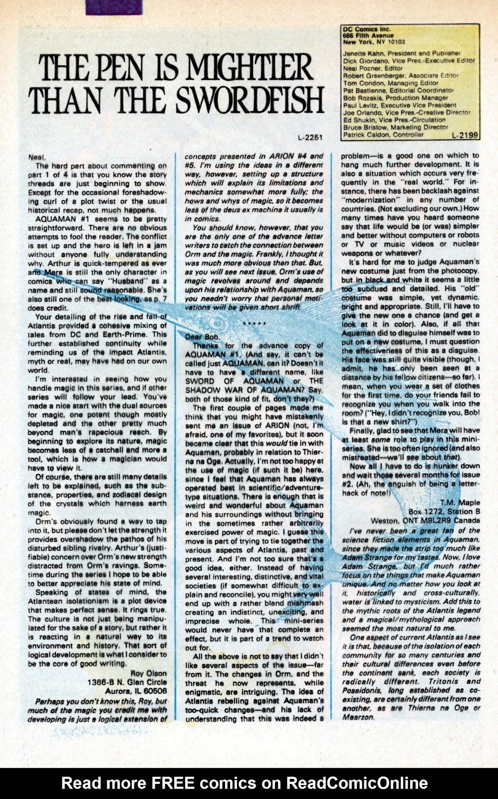Aquaman (1986) Issue #3 #3 - English 35