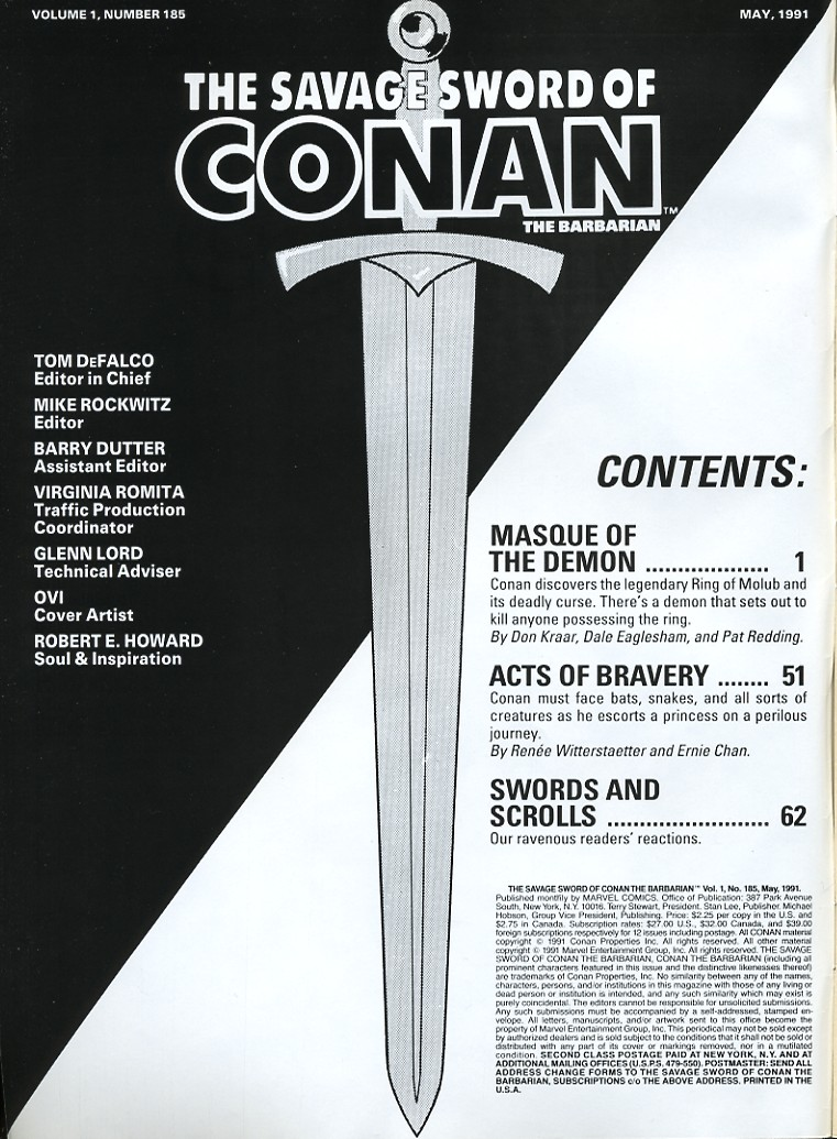The Savage Sword Of Conan Issue #185 #186 - English 2