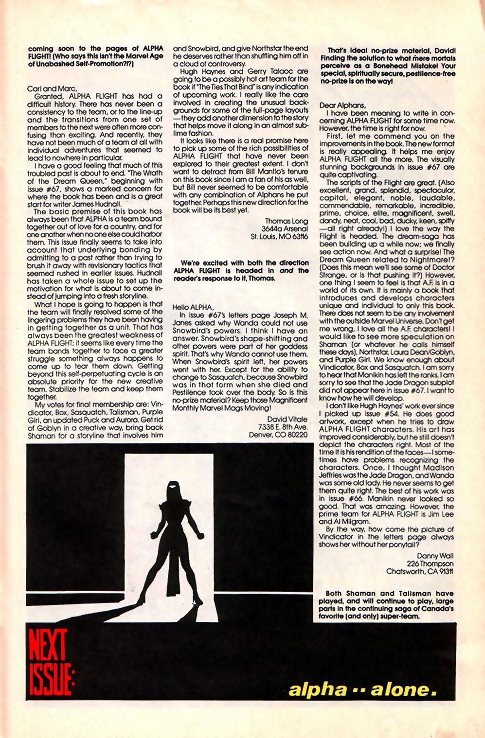 Alpha Flight (1983) 71 Page 27